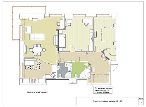 Планировки трехкомнатных квартир и их дизайн