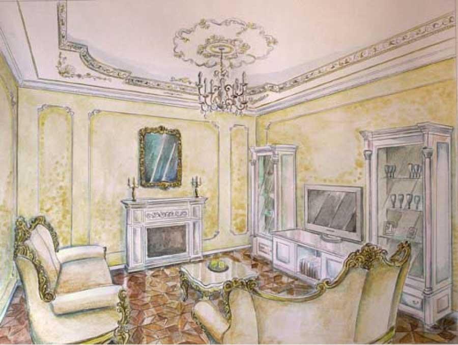 Дизайн кабинета по рисунку 55